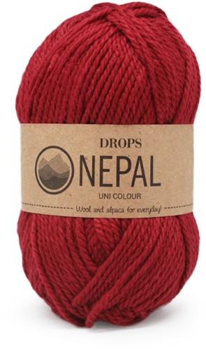 Drops Nepal Uni Colour 3608 Diep-rood