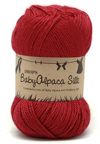 Drops BabyAlpaca Silk Uni Colour 3609 Red
