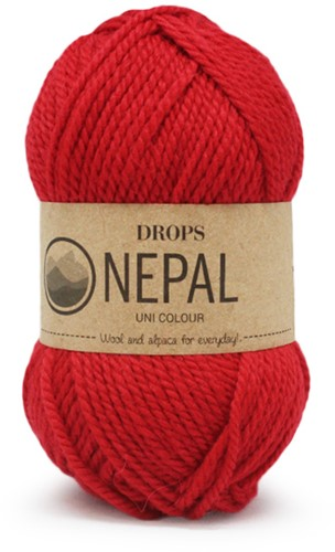 Drops Nepal Uni Colour 3620 Rood