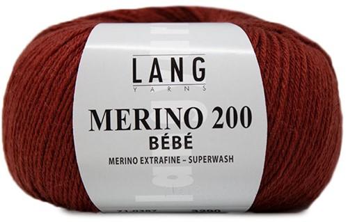 Lang Yarns Merino 200 Bebe 387 Brick