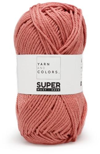 Zijwaartse Kabel Sjaal Garenpakket À la Sascha 2 Old Pink