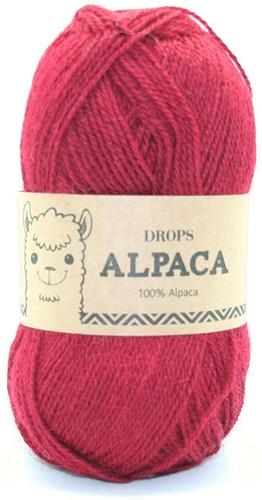 Drops Alpaca Uni Colour 3900 Donkerrood