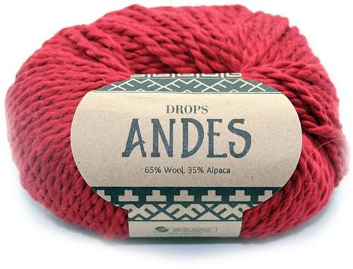Drops Andes Uni Colour 3946 Rood