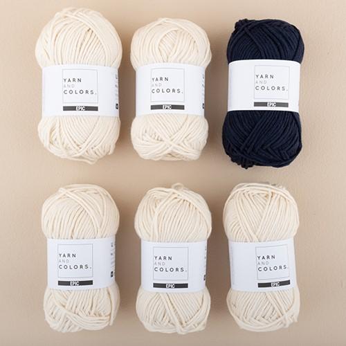 Yarn and Colors Striped Jumper Breipakket 3 L Dark Blue