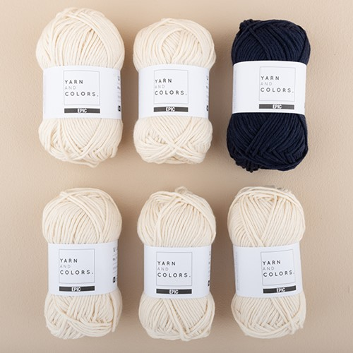 Yarn and Colors Striped Jumper Breipakket 3 XL Dark Blue
