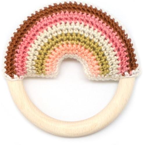 Wolplein Regenboog Bijtring Haakpakket 3 Vintage pink