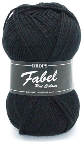 Drops Fabel Uni Colour 400 Black