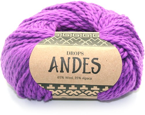Drops Andes Uni Colour 4066 Paars