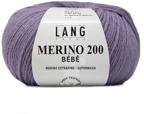 Lang Yarns Merino 200 Bebe 407 Purple