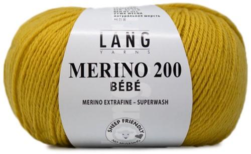Lang Yarns Merino 200 Bebe 414 Sun Yellow