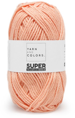 Yarn and Colors Leaf Cushion Haakpakket 3 Peach