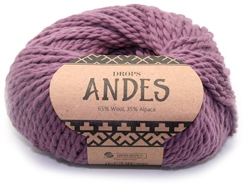 Drops Andes Uni Colour 4300 Oudroze