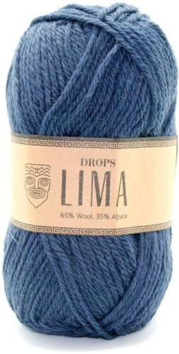 Drops Lima Uni Colour 4305 Donkerblauw