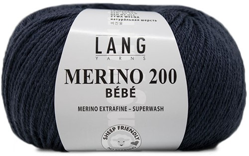 Lang Yarns Merino 200 Bebe 434 Jeans