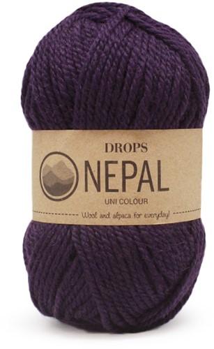 Drops Nepal Uni Colour 4399 Aubergine