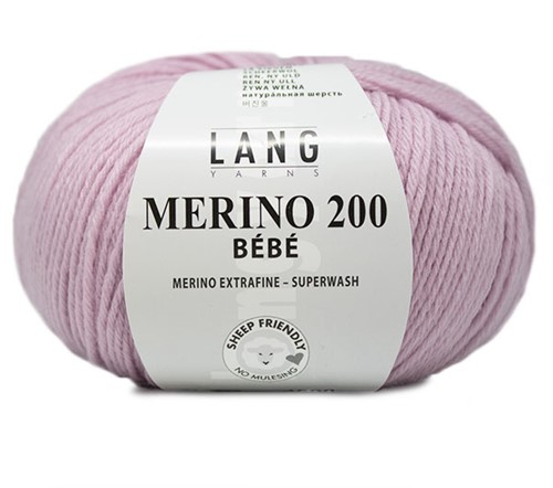 Lang Yarns Merino 200 Bebe 446 Light Lilac
