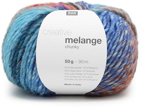 Rico Creative Melange Chunky 046 Turquoise-Magenta