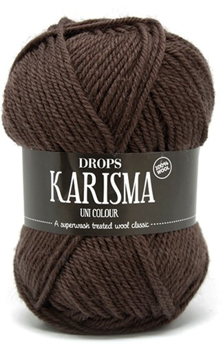 Drops Karisma Uni Colour 04 Chocolate-brown