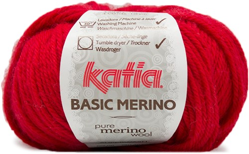 Katia Basic Merino 4 Red