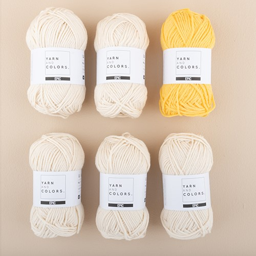Yarn and Colors Strepentrui Breipakket 1 M Sunflower
