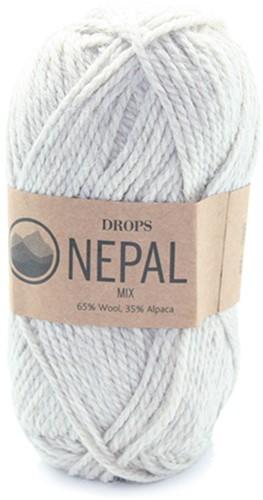 Drops Nepal Mix 500 Lichtgrijs