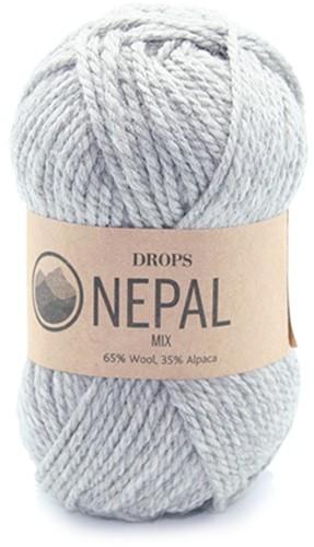 Drops Nepal Mix 501 Grijs