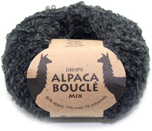 Drops Alpaca Bouclé Mix 506 Donkergrijs
