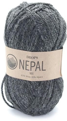 Drops Nepal Mix 506 Donkergrijs