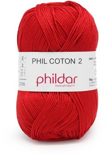 Phildar Phil Coton 2 1038 Cerise