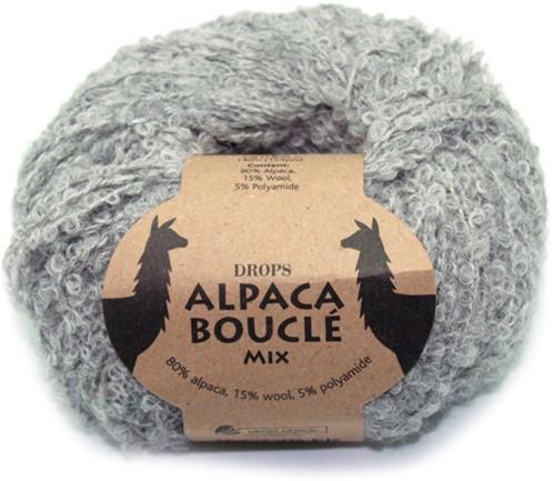 Drops Alpaca Bouclé Mix 5110 Lichtgrijs