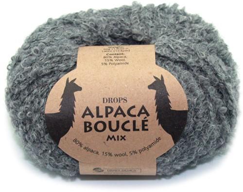 Drops Alpaca Bouclé Mix 517 Grijs