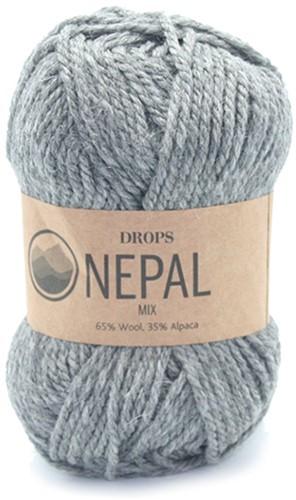 Drops Nepal Mix 517 Mediumgrijs