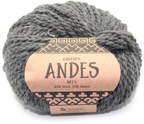 Drops Andes Mix 519 Donkergrijs