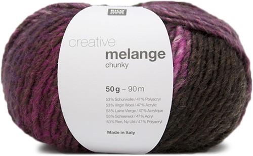 Rico Creative Melange Chunky 051 Purple-Brown