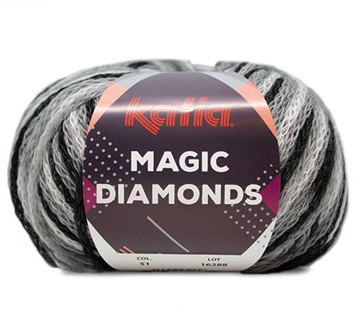 Katia Magic Diamonds 051 Black / Grey / White