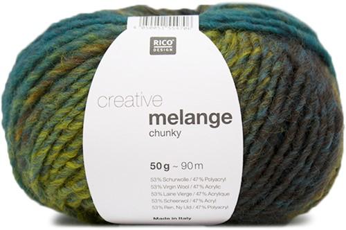 Rico Creative Melange Chunky 053 Cinnamon-Azur