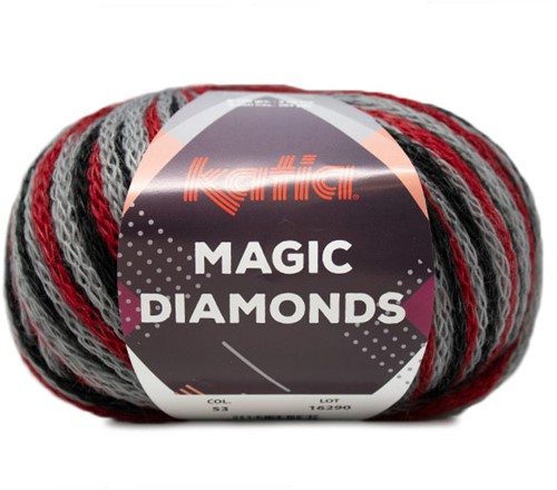Katia Magic Diamonds 053 Red / Grey / Black