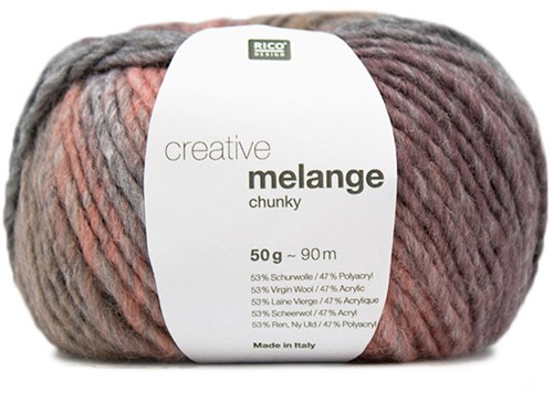 Rico Creative Melange Chunky 054 Grey-Pink