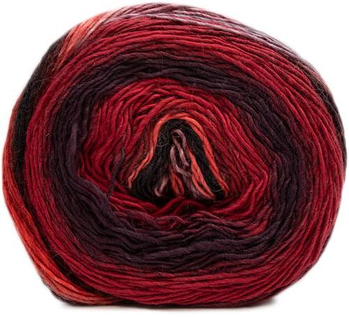 Lana Grossa Gomitolo Finito 551 Wine red/dark red/blue violet