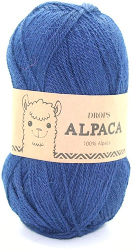 Drops Alpaca Uni Colour 5575 Marineblauw