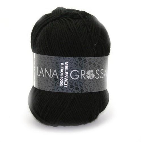 Lana Grossa Meilenweit Sportwolle 558 Black