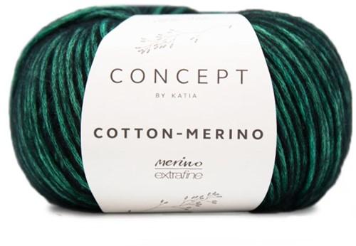 Katia Cotton-Merino 56 Mint green - Black