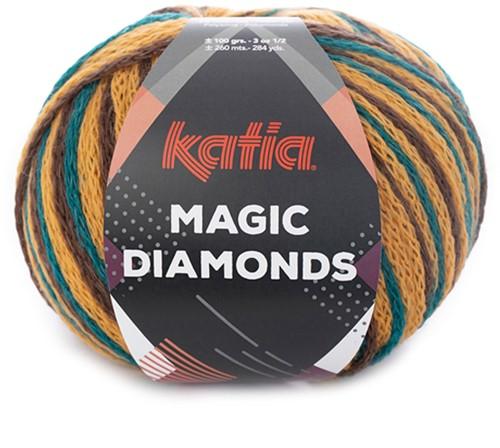 Katia Magic Diamonds 056 Green-Blue / Ocher / Brown