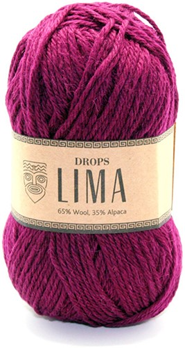 Drops Lima Uni Colour 5820 Robijnrood