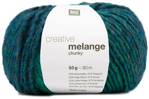 Rico Creative Melange Chunky 058 Blue-Green