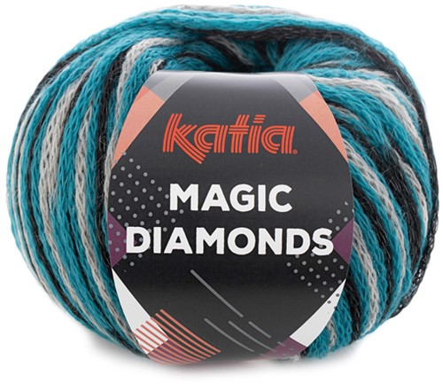 Katia Magic Diamonds 059 Turquoise / Grey / Black
