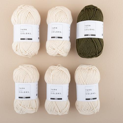 Yarn and Colors Striped Jumper Breipakket 4 L Khaki