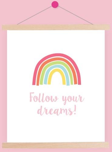 Wolplein Regenboog Poster 1 Pastel