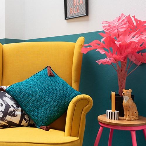 Yarn and Colors Must-Have Cushion Haakpakket 2 Petroleum / Brownie