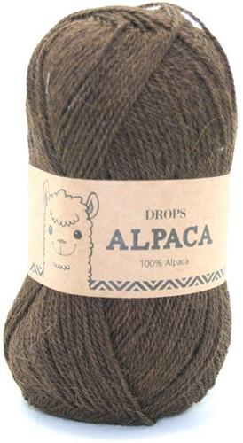 Drops Alpaca Uni Colour 601 Donkerbruin